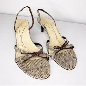 KATE SPADE Snake Skin Kitten Heel Sandals Size 9